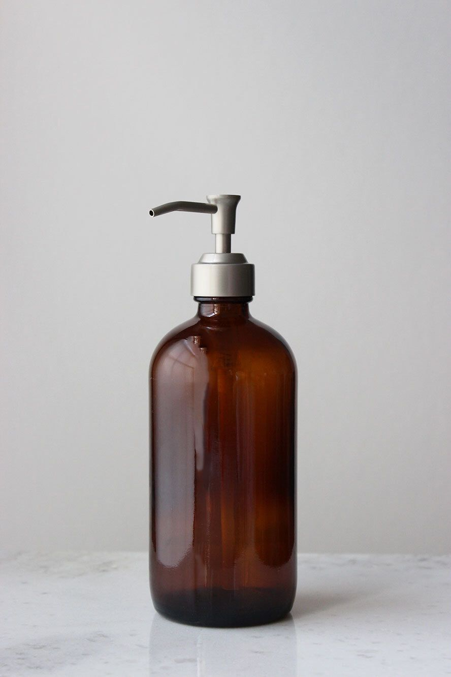 Amber Glass Apothecary Style Soap Dispenser By Rail19 On Etsy