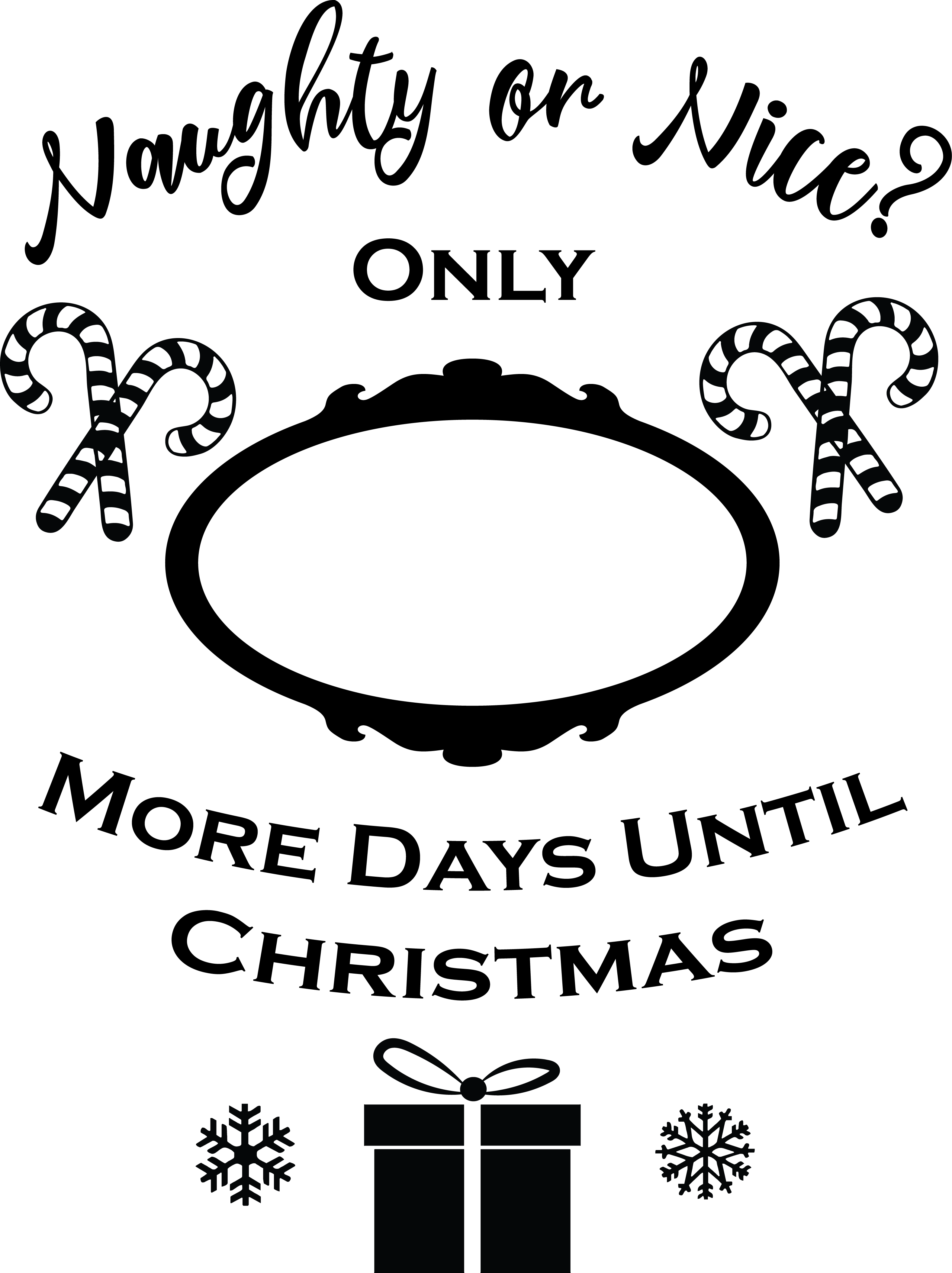 Days Until Christmas Free SVG File Navidad