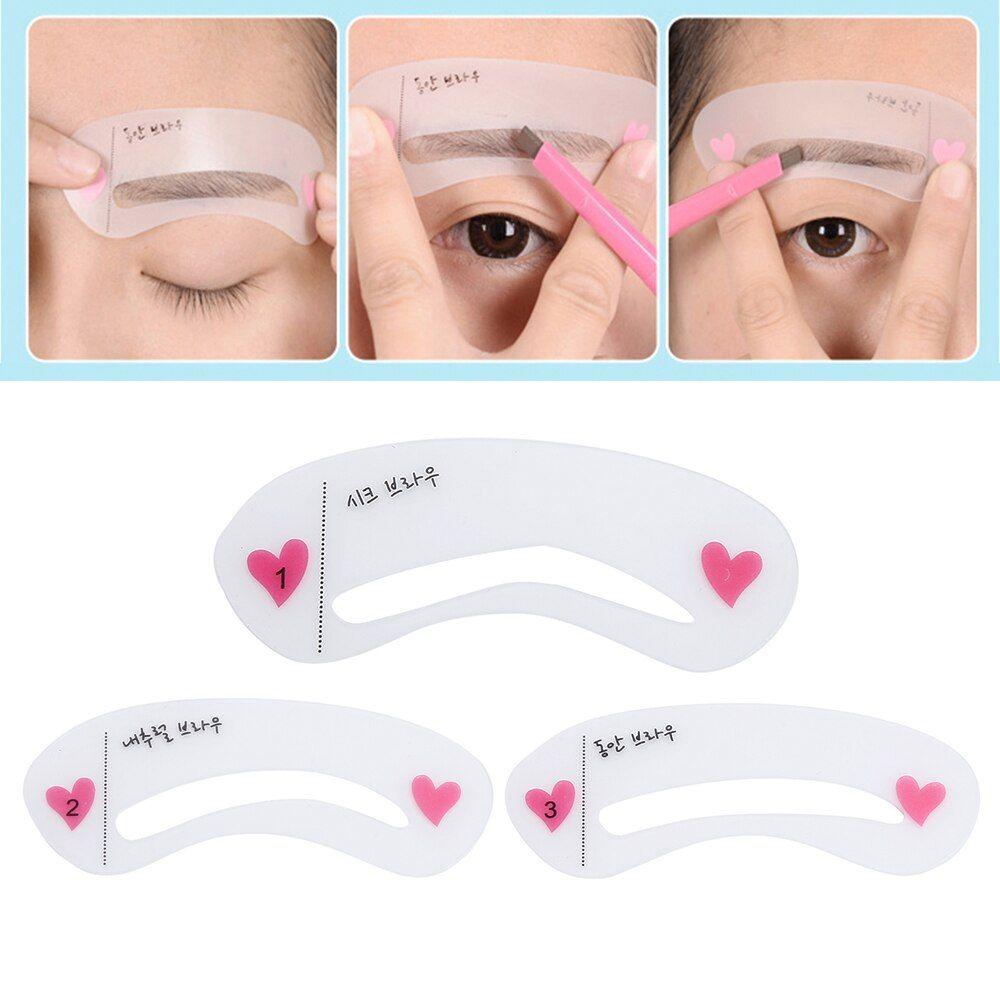 Elecool 3 Arten Wiederverwendbare Augenbraue Zeichnung Leitfaden Karte Augenbraue Vorlage For In 2020 Augenbrauen Zeichnen Augenbrauen Augenbrauen Schablone