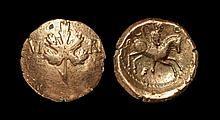 Celtic Iron Age Coins - Atrebates and Regni - Verica - Vine Leaf Gold Stater