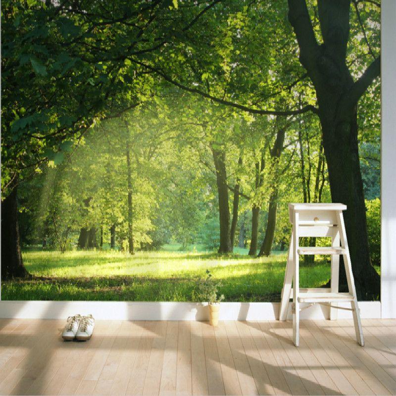 Malerei Schlafzimmer · Zimmer Tapete ·  Large Mural Forest Garden Living Room Modern Background