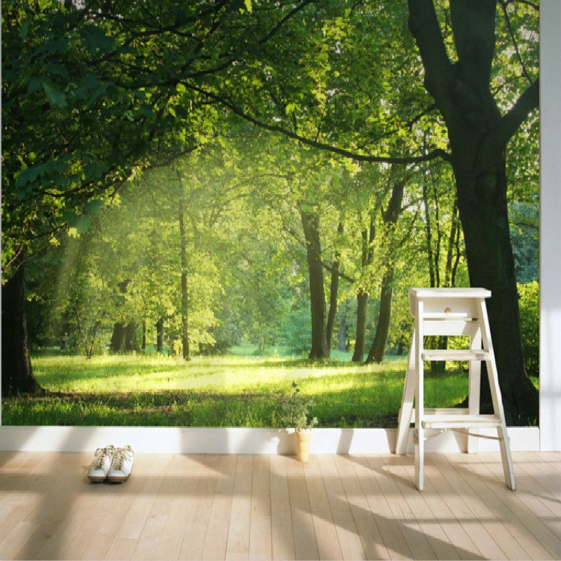 Large-Mural-Forest-Garden-living-room-modern-background-wall-TV ...