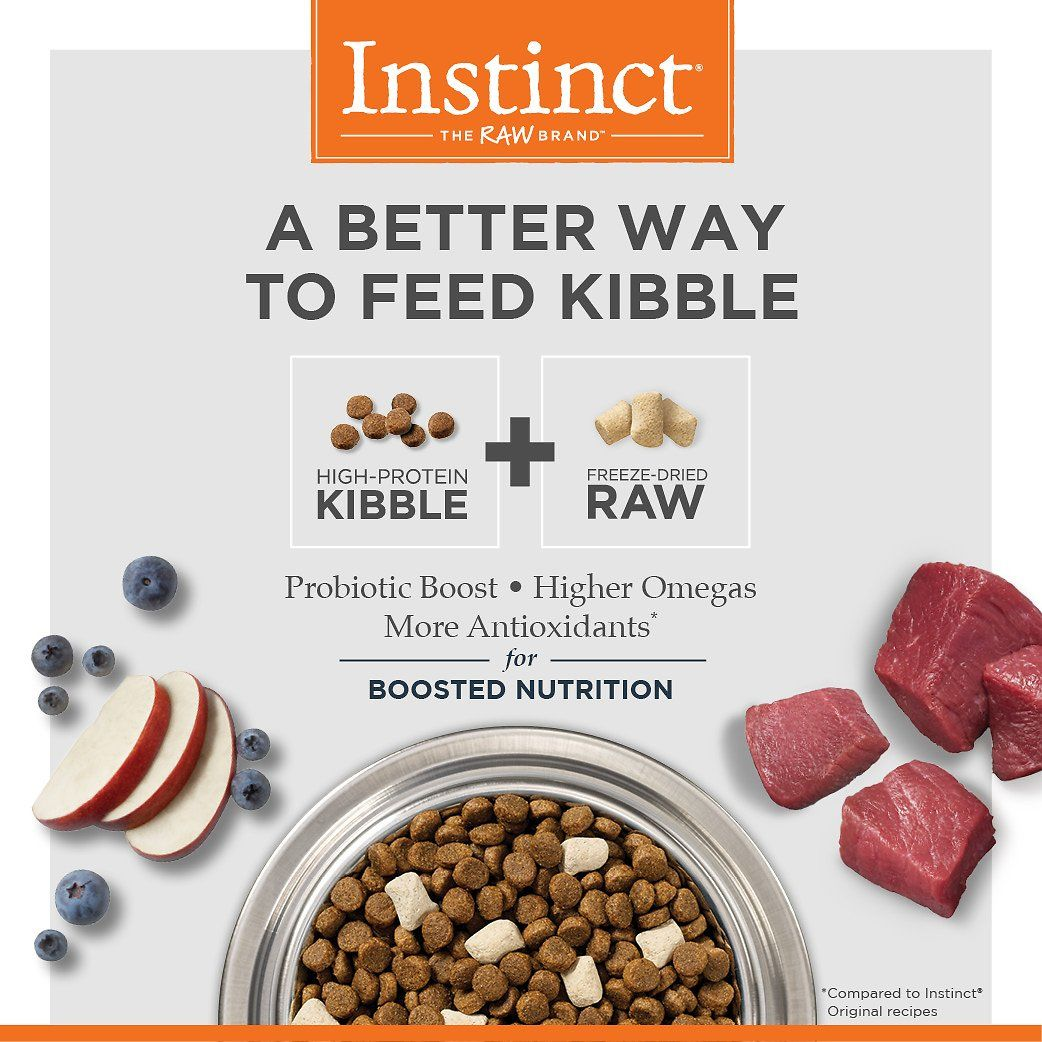 A Better Way To Feed Kibble Instinct By Nature S Variety Raw