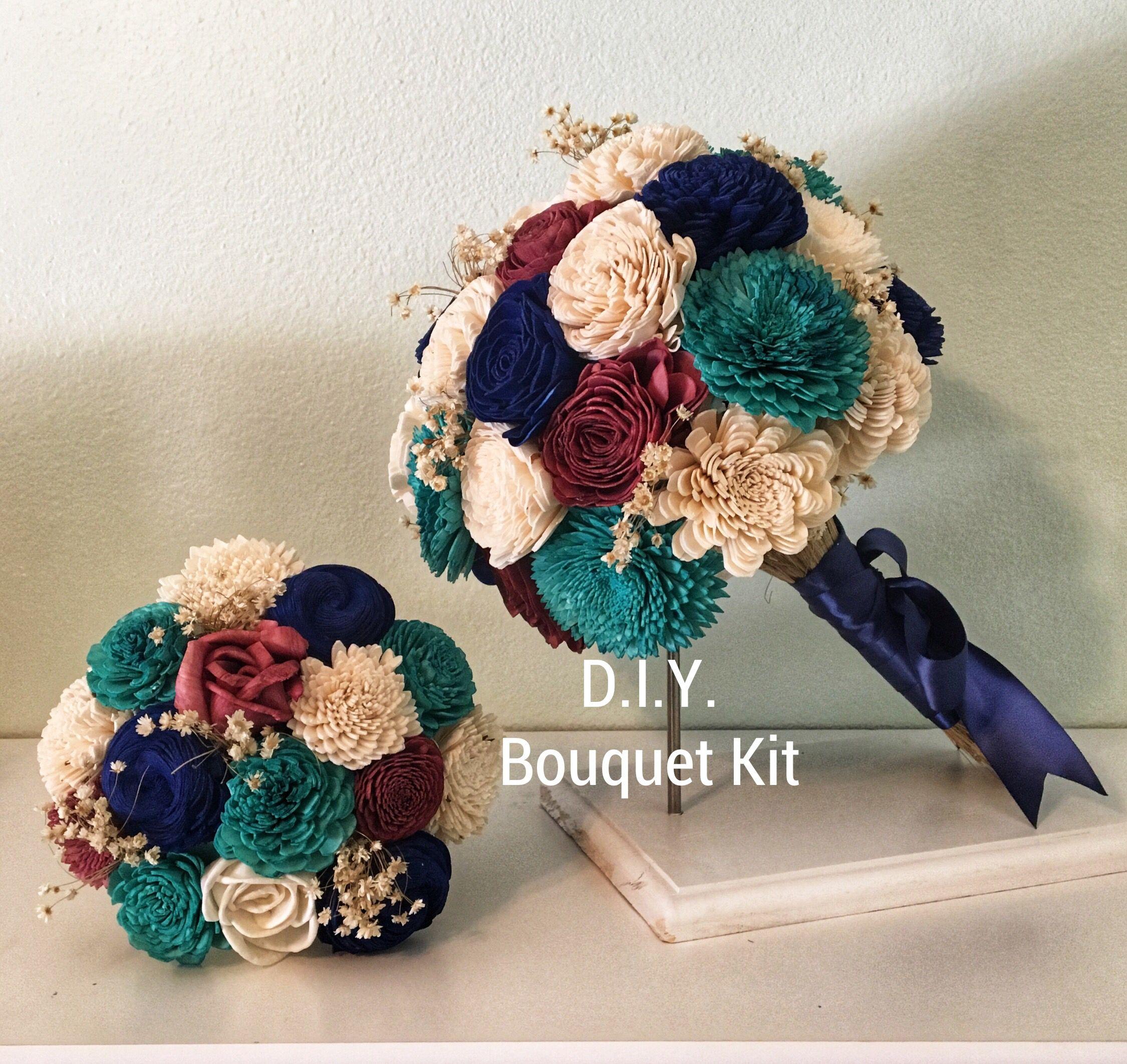 DIY kits Wood flower bouquet, Wedding bouquets, Bouquet