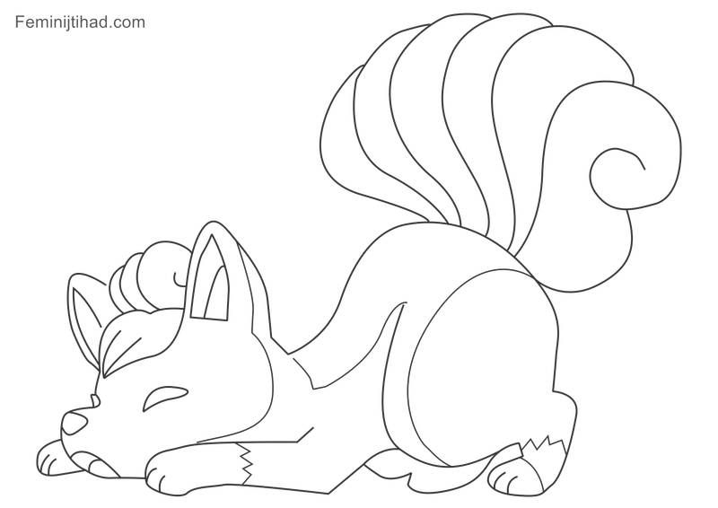 Printable Pokemon Vulpix Coloring Pages Cartoon Coloring Pages