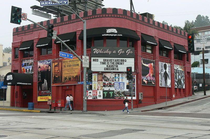 Das Whisky a Go-Go am Sunset Boulevard, wo Morrison und die Doors für Elektra entdeckt wurden