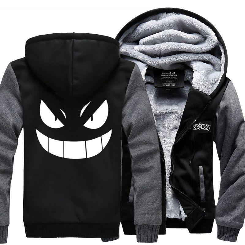 Hoodies & Sweatshirts Sensible Us Size Men Anime One Piece Monkey D Luffy Cosplay Zipper Jacket Thicken Hoodie Coat Clothing Casual Hoodies