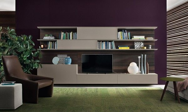 Living Room Wall Unit System Designs | architecture | Living room ...