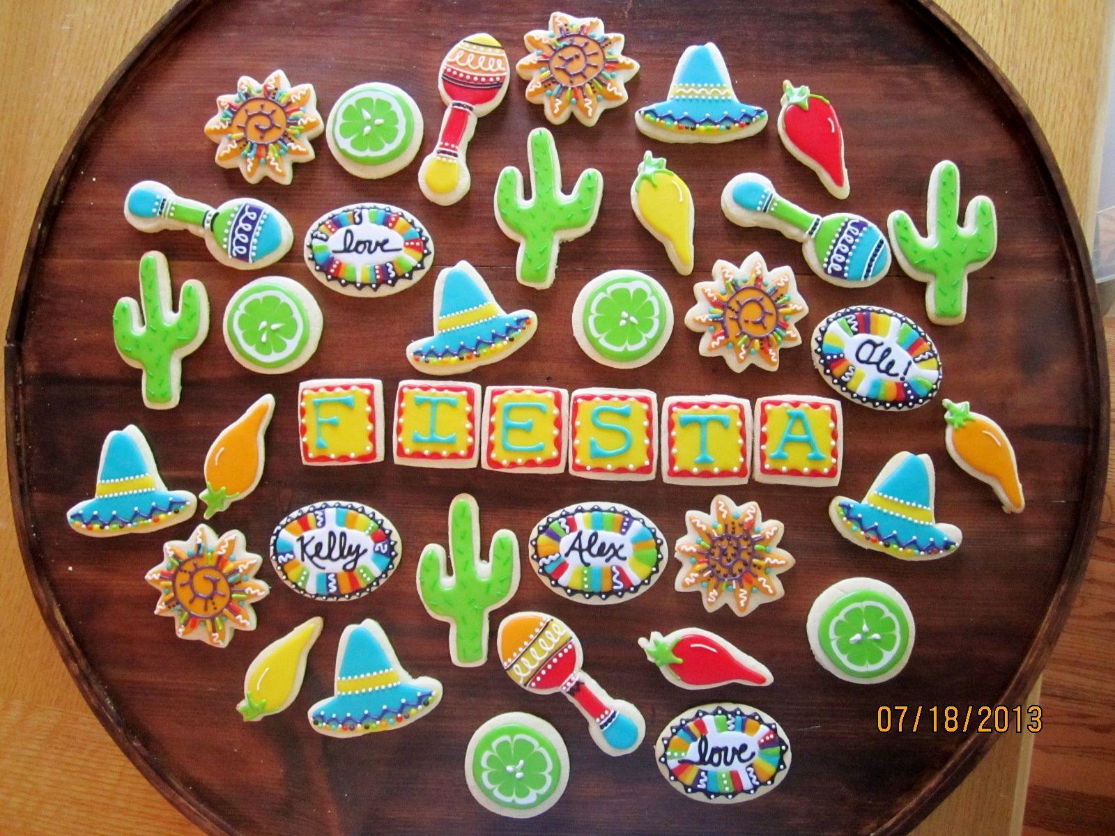 Mexican Fiesta Wedding Shower Cookies