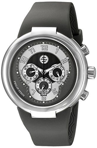 716ab4daeeb Philip Stein Unisex 32-AGR-RBGR Active Grey Chronograph Rubber Strap Watch  -- Read more at the image link.