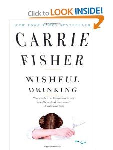 "Carrie Fisher author of ""Wishful Drinking."" Quite interesting to read."