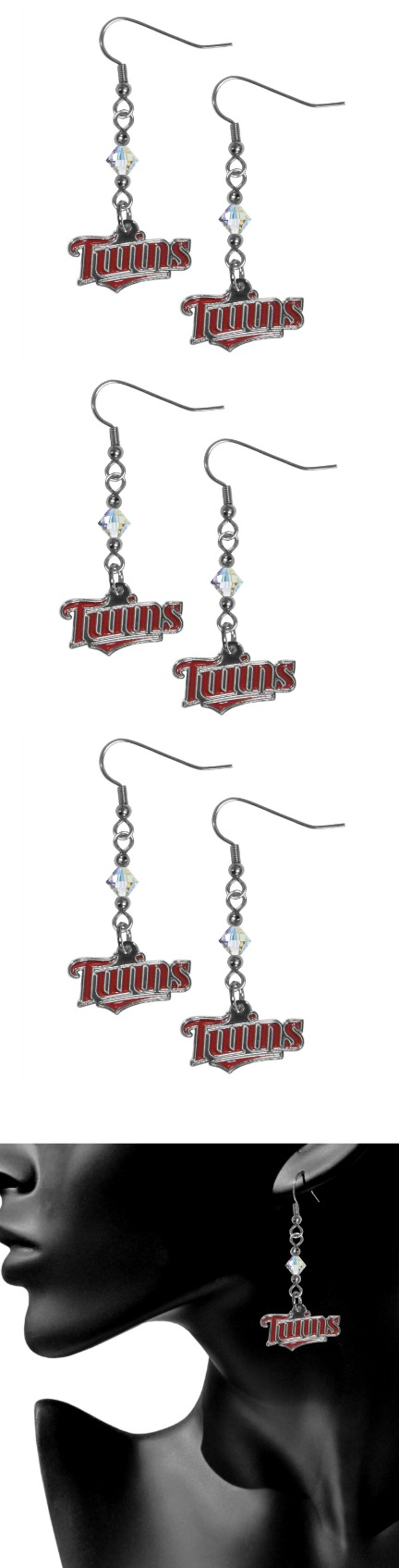 Minnesota Twins Crystal Dangle Earrings! Click The Image To Buy It Now or Tag Someone You Want To Buy This For. #MinnesotaTwins