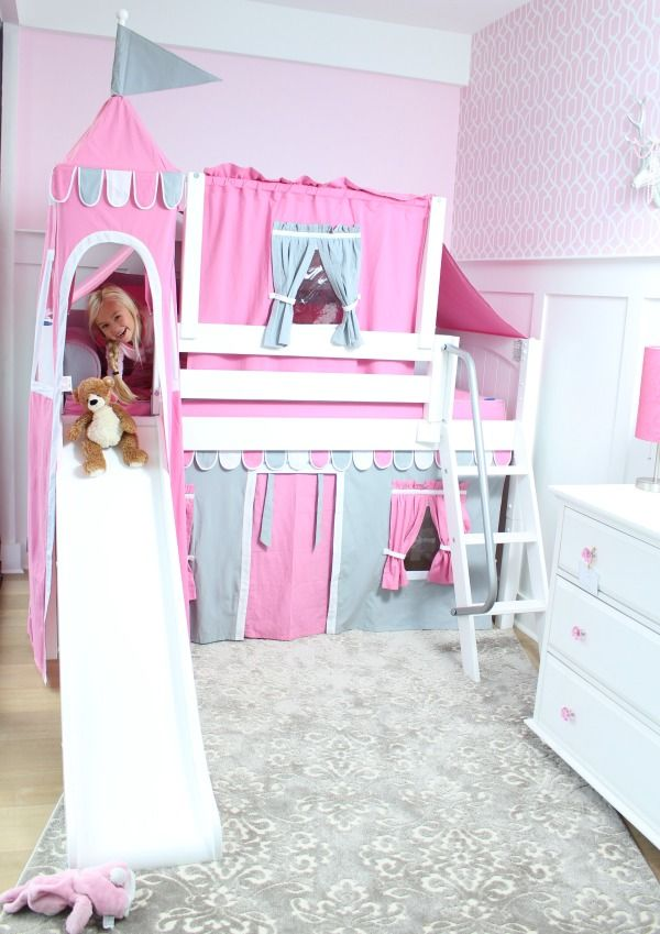 Wow Your Kids With A Playhouse Bed With Slide All Dressed Up