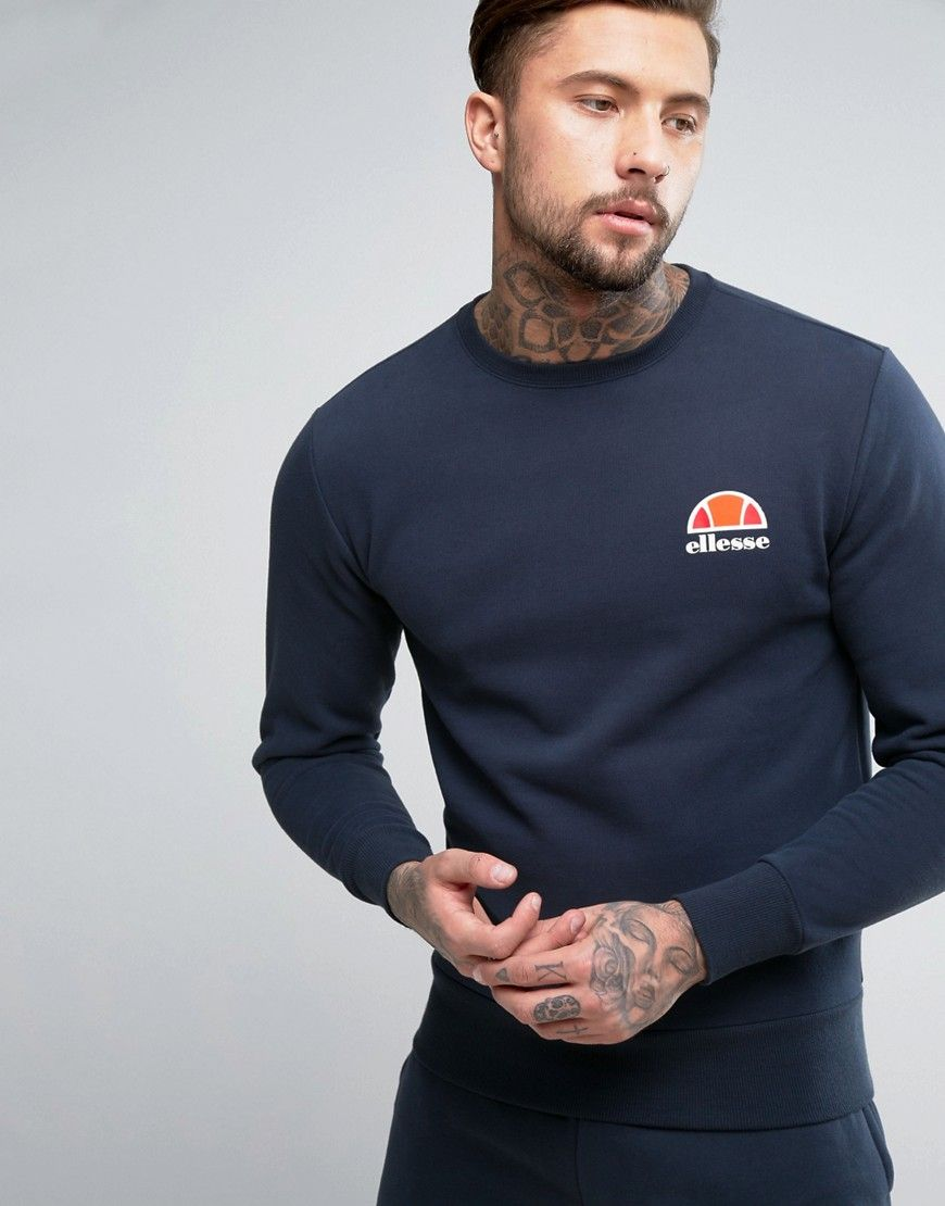 438d0a33 Ellesse sweatshirt with small logo in navy in 2019   Products ...