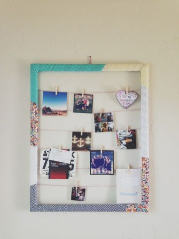 Fabric wrapped frame. Cute AND easy. | Crafty | Pinterest | Wraps ...