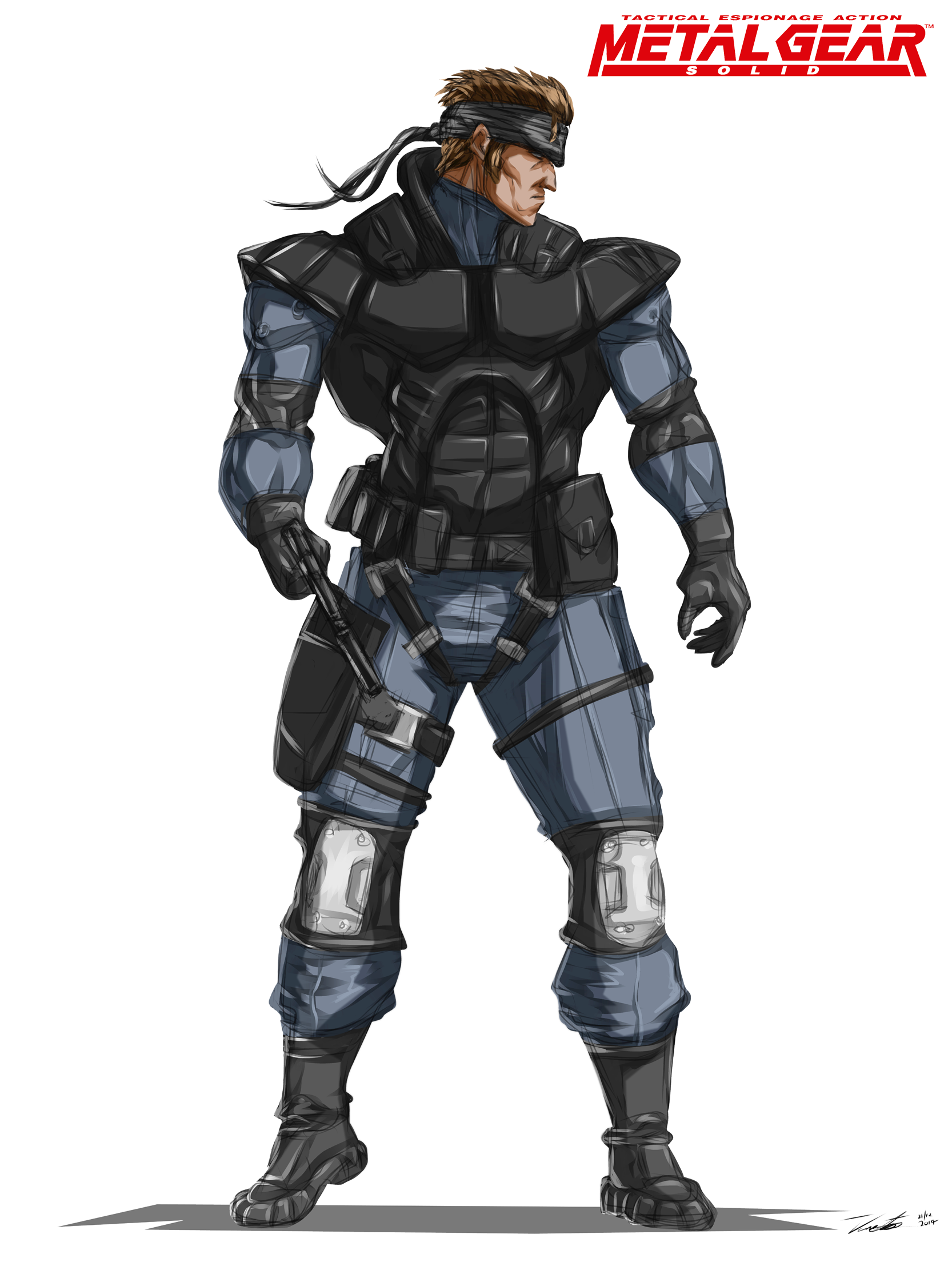 A Digital Sketch Painting I Made Of Solid Snake From The First Metal Gear Solid Video Game Sketch Painting Digital Artwork Metal Gear Solid