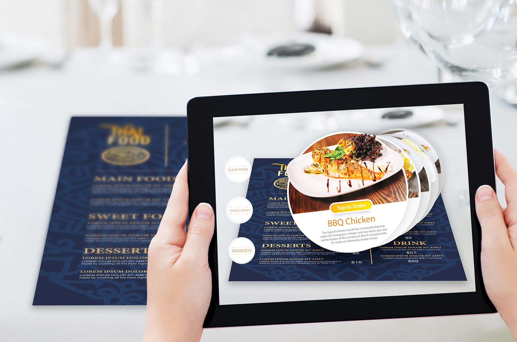 AR for Food and Restaurants Augmented reality