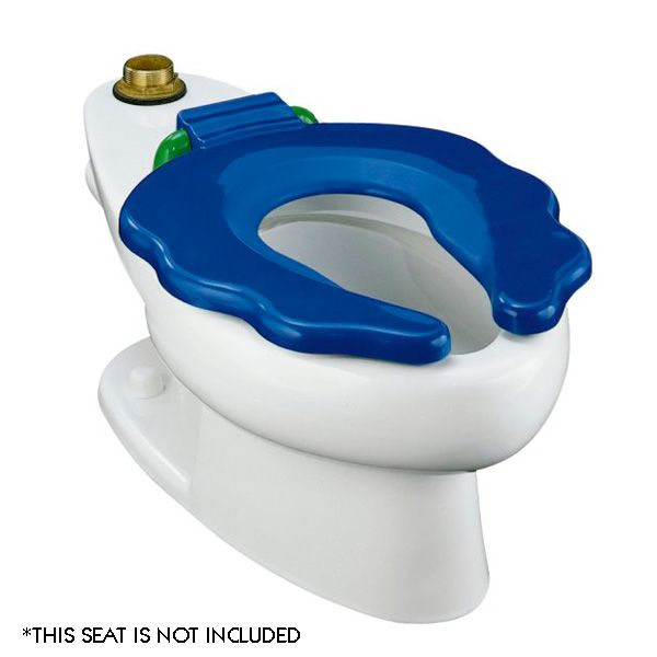 Kohler Childs Size Toilet 10 Inch Height For Small Children Seat Has Scalloped Edges Strategic Hand Placement A Knee Clearance Of 24 Min Above The