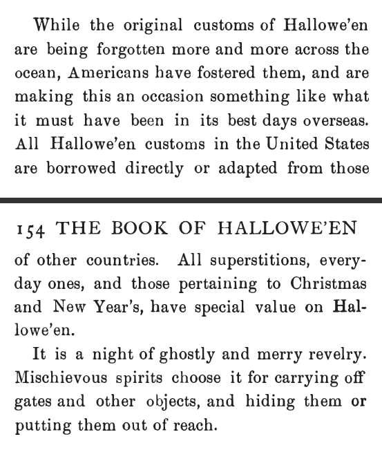 Original Customs of Halloween came from Europe. From The Book of Hallowe'en by Ruth Edna Kelley, A.M.  | Victorian America Celebrates Halloween | KristinHolt.com