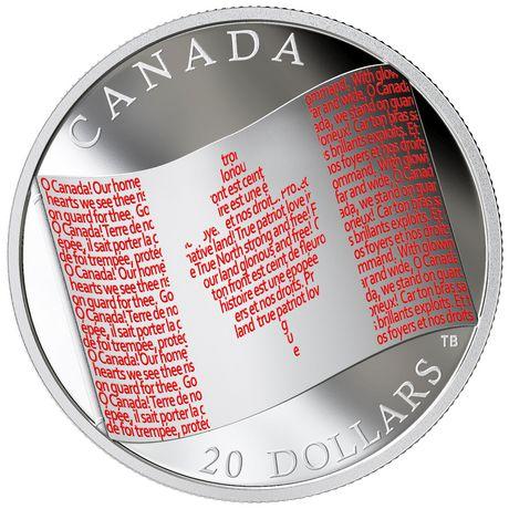 2015 Canada $20 Fine Silver Coin Colias Gigantea Giant Sulphur