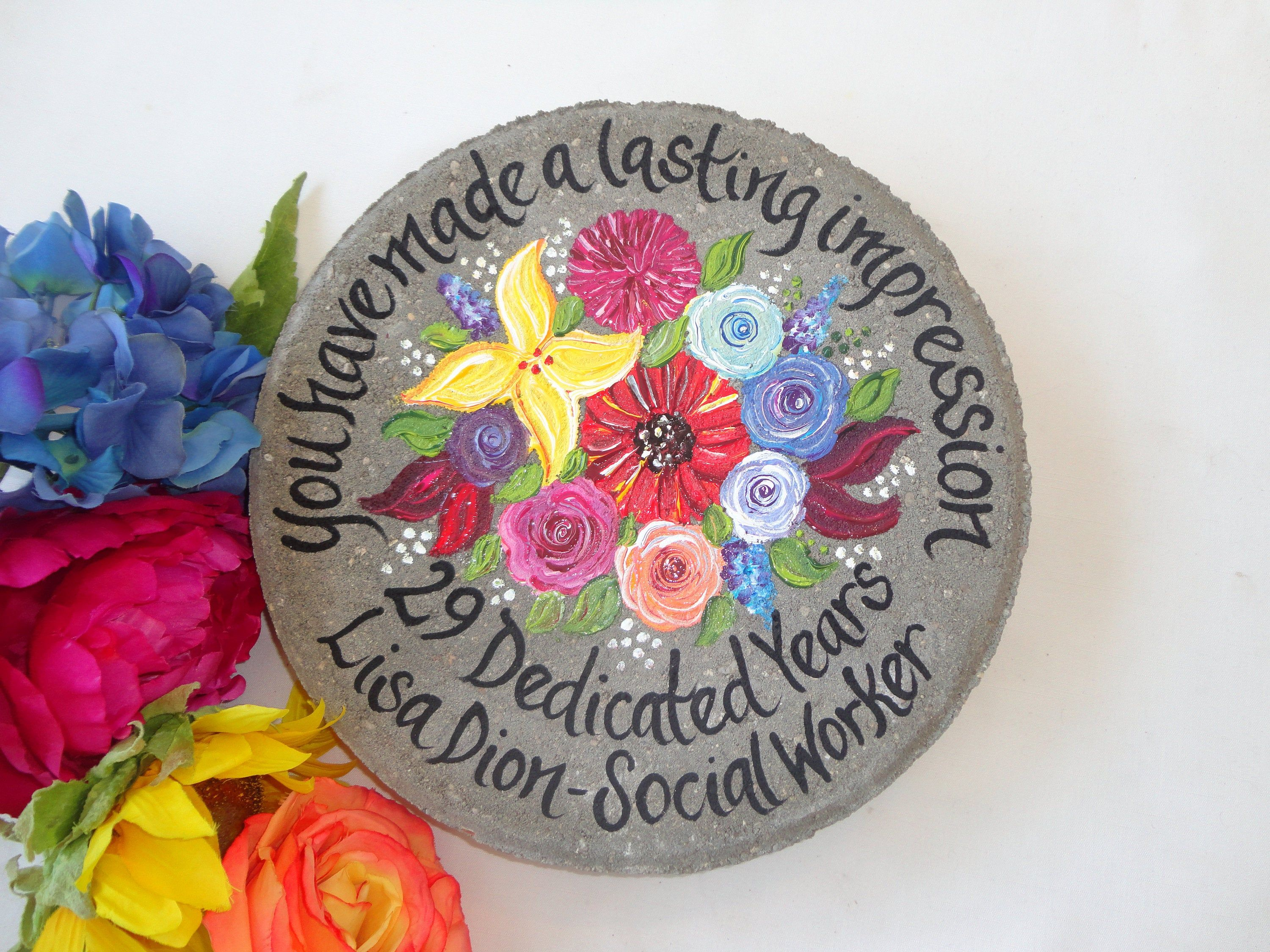 RETIREMENT GIFT, Employee Appreciation, Employee Recognition, Retirement Gifts, Painted Wildflowers, Employee, Gift for Teacher, Retirement