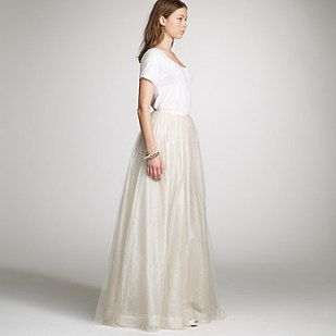 This J Crew Tulle Skirt Tee Combo Two Piece Wedding Dressstunning