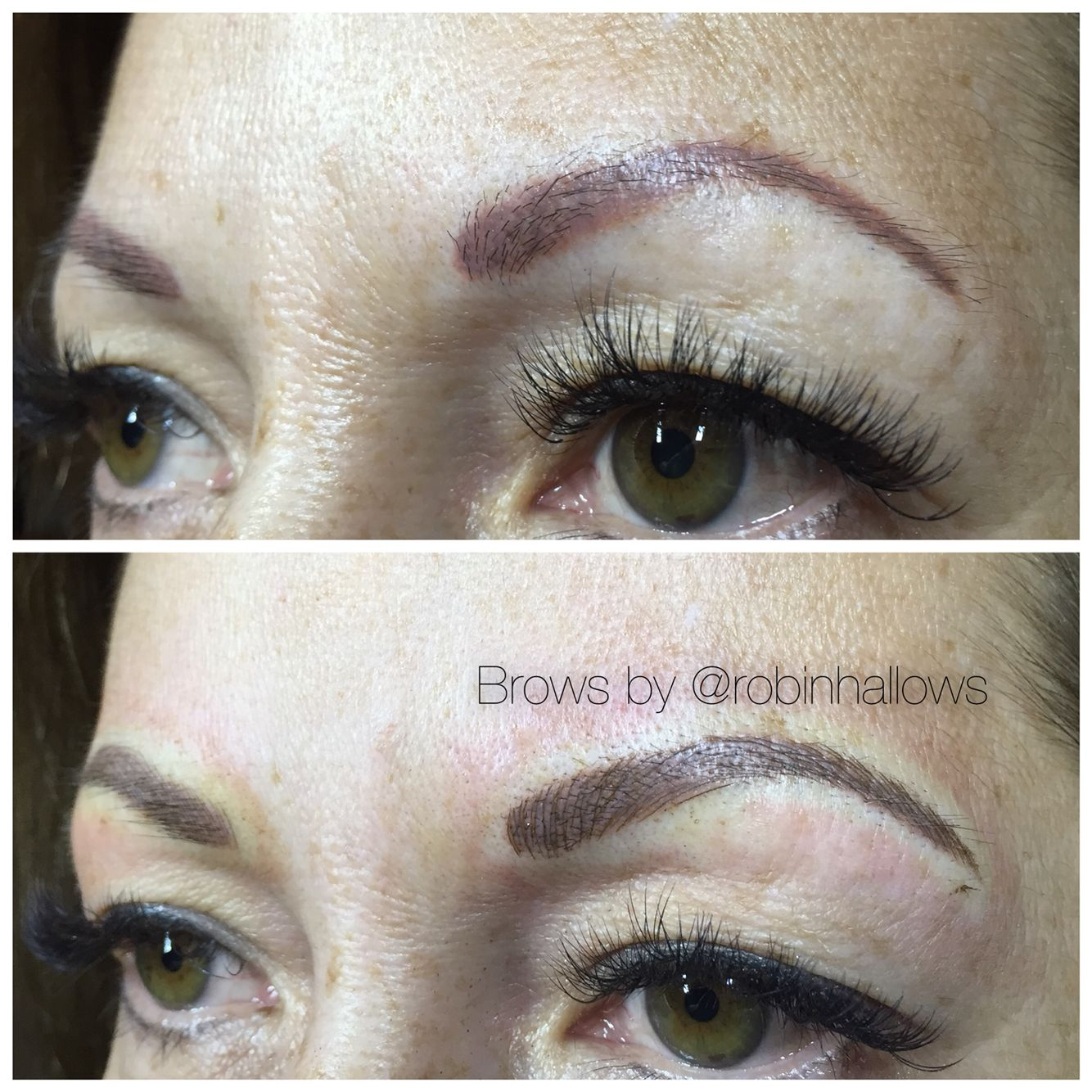 Eyebrow Tattoo Before And After: Microblading Over Old Tattoo Before And After...info On My