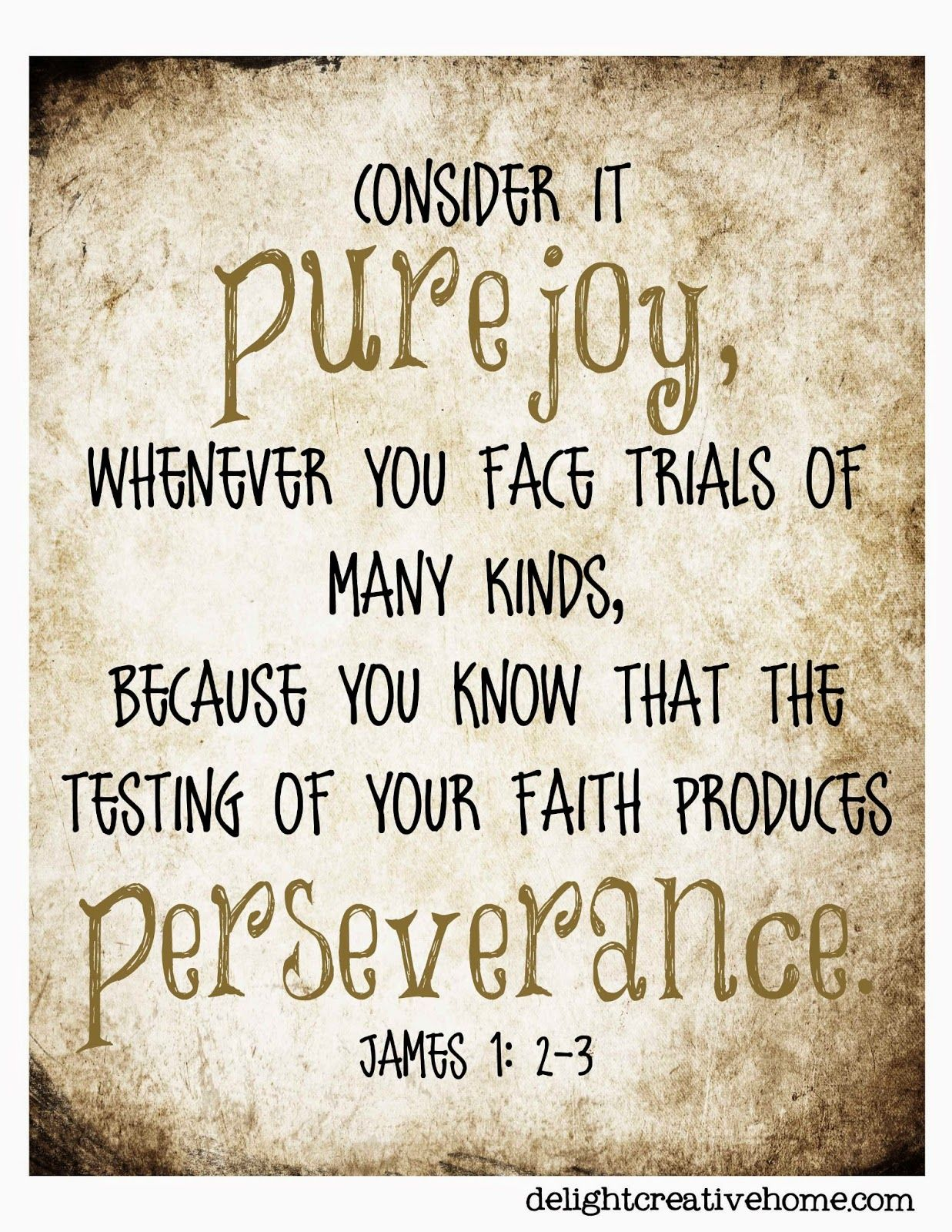 Joy Faith Perseverance James 1 2 3