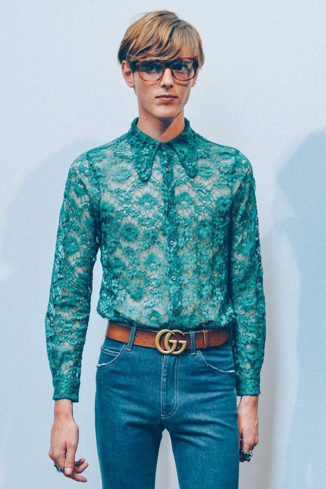 a0b2f9f7e4a Image result for gucci lace shirt men