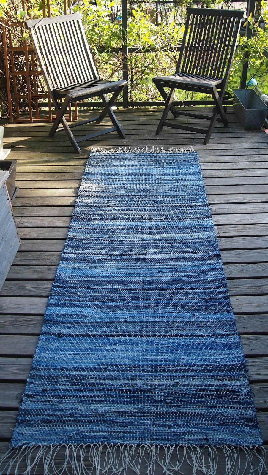 Woven Denim Rug Tutorial Not In English