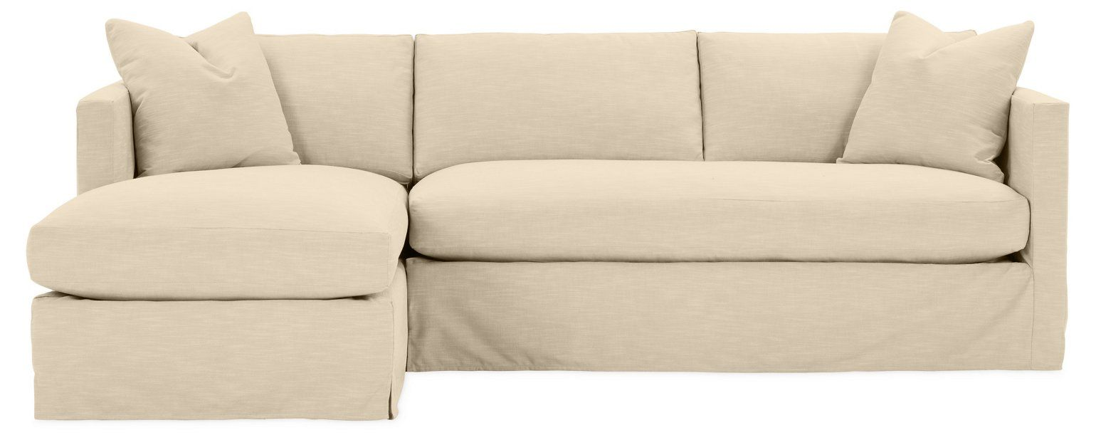 Shaw Left Bench Seat Sectional Bisque Crypton One Kings Lane