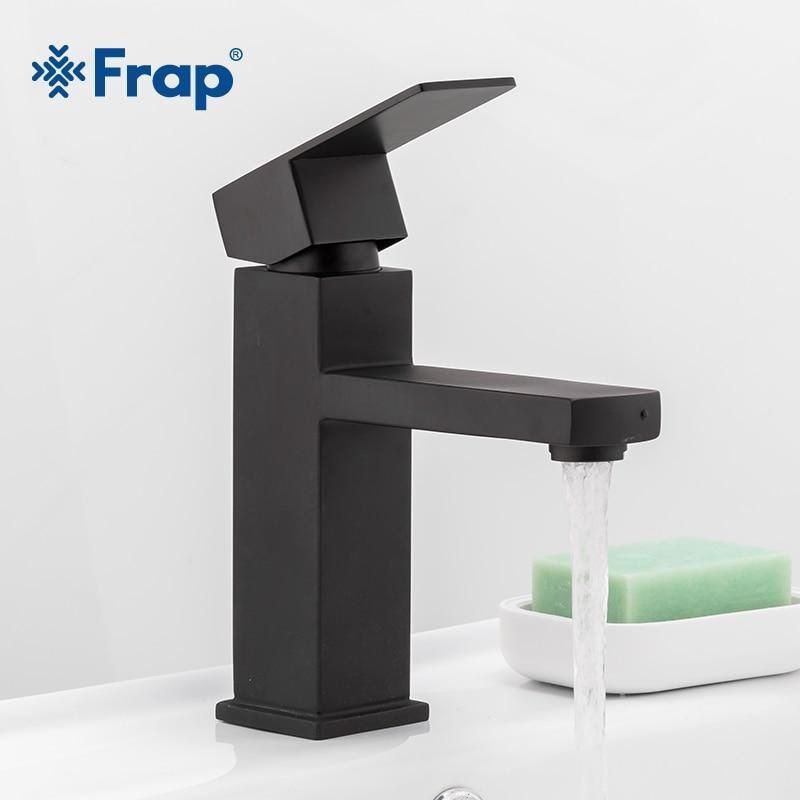 Photo of Delmer – Black Stainless Steel Square Bathroom Faucet
