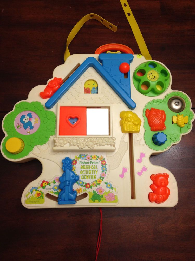 FISHER PRICE MUSICAL ACTIVITY CENTER CRIB TOY / BUSY BOX