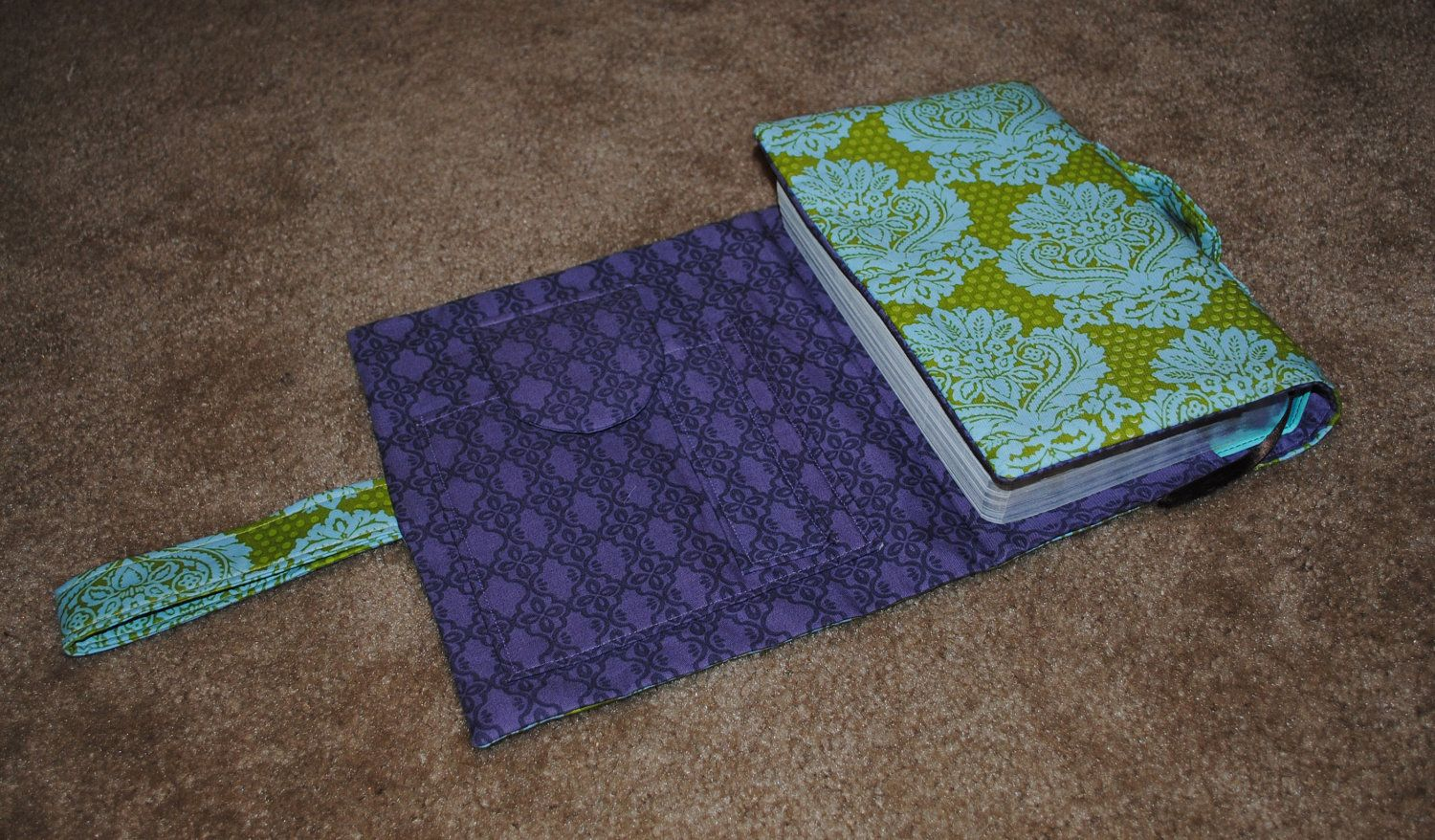 Bible Book Cover Sewing Pattern : Bible cover with notepad and pen pockets pattern instant