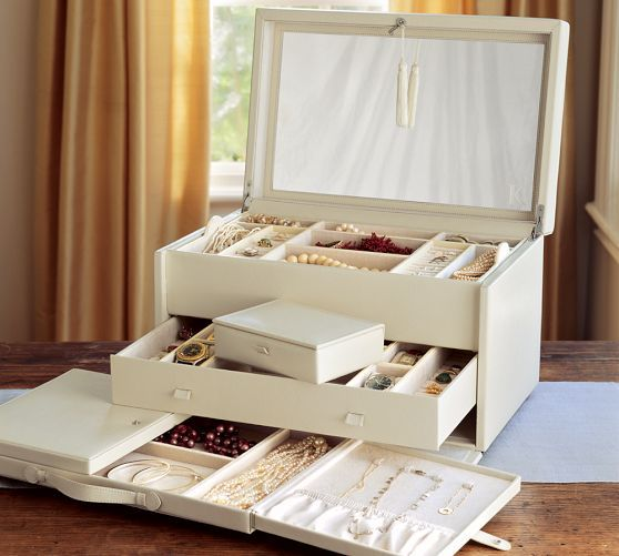 Mckenna Personalized Jewelry Armoire Large Jewelry Box