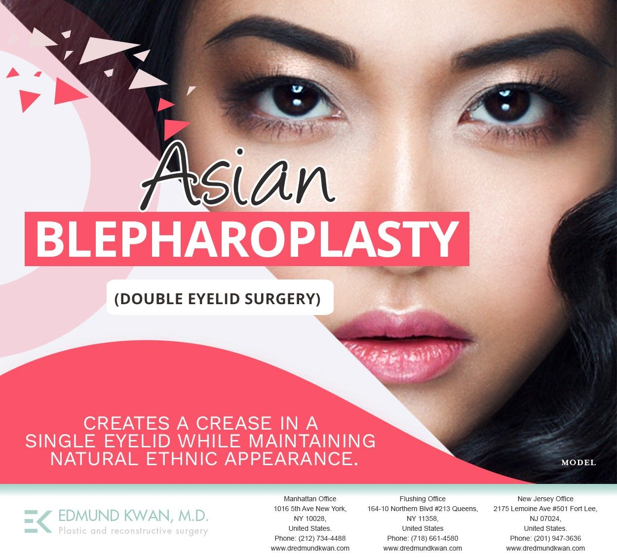 At Edmund Kwan M D We Have Experience In Asian Eyelid Surgery Give Us A Call At 212 734 4488 Or Visit Http Eyelid Surgery Cosmetic Procedures Double Eyelid