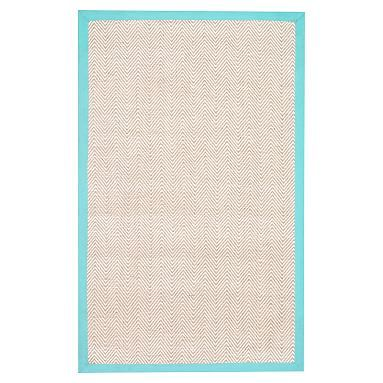 Shoreline Jute Chenille Border Rug, Pool #pbteen