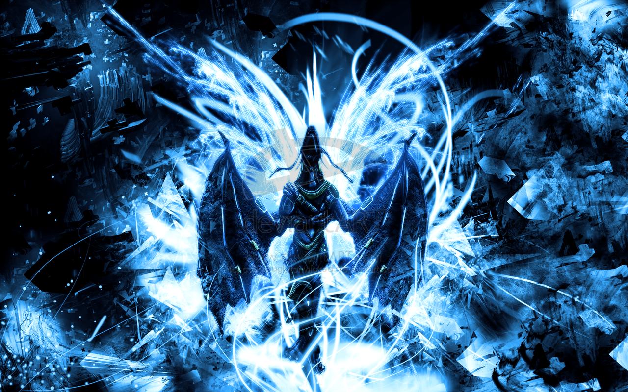 Dragon Bleu Blue Dragon By Coyoteuglytehwicked On Deviantart Blue Dragon Dragon Cool Dragons