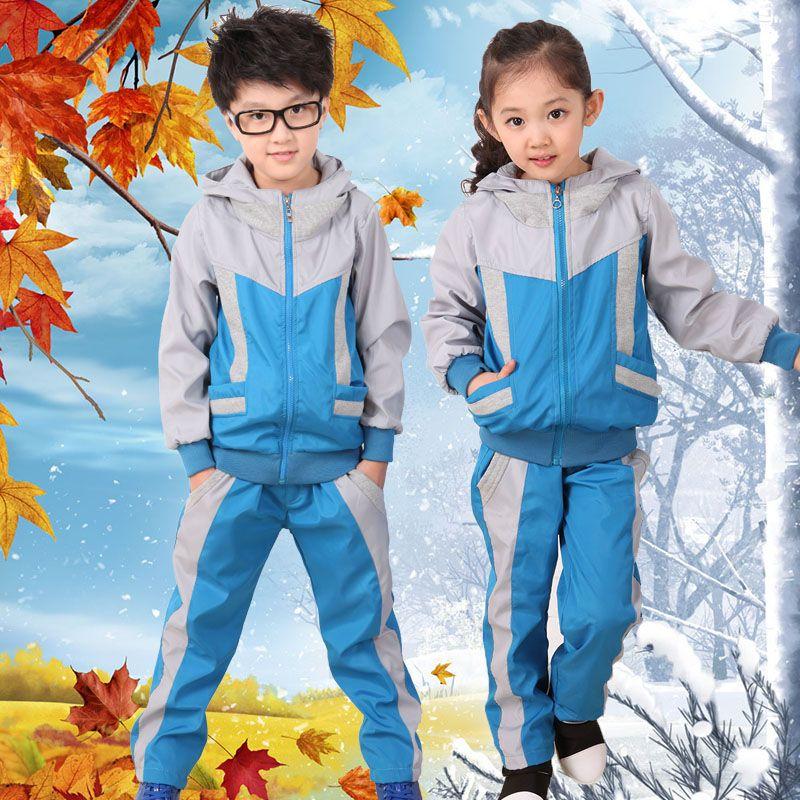 fb9a6fc859c42 Nueva guardería jardín trajes otoño invierno y primavera escuela primaria  uniforme escuela secundaria uniforme traje de ropa por mayor de ropa  deportiva