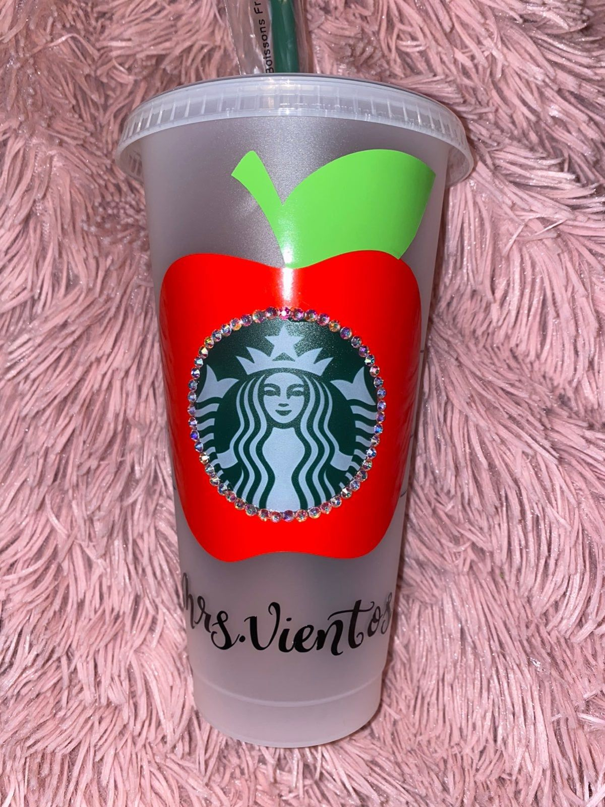 Teacher Blinged Out Starbucks Cup In 2020 Starbucks Cups Starbucks Cup