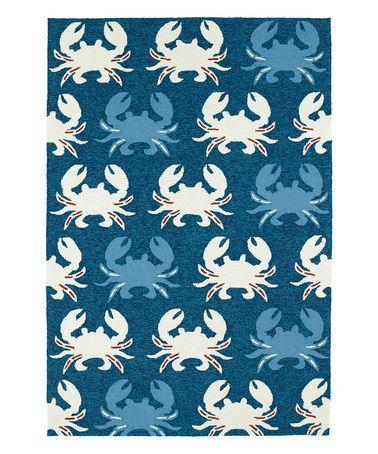 Look what I found on #zulily! Navy Crab Indoor/Outdoor Rug #zulilyfinds