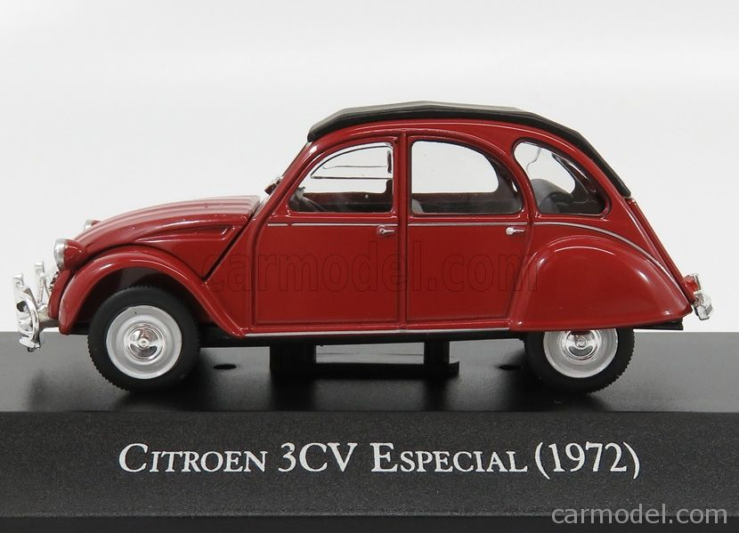 Edicola Arg006 Scale 1 43 Citroen 3cv Especial Cabriolet Closed 1972 Base 2cv Red Black Citroen 3cv Cabriolets Car Model