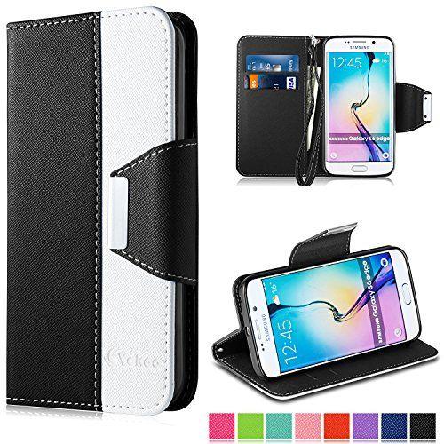 Vakoo S6 Edge Hulle Tasche Wallet Case Flip Stand Cover Hullen Schutzhulle Etui Premium Ledertasche Lederhulle Mit Samsung Galaxy S6 Iphone 6 Hulle Lederhulle
