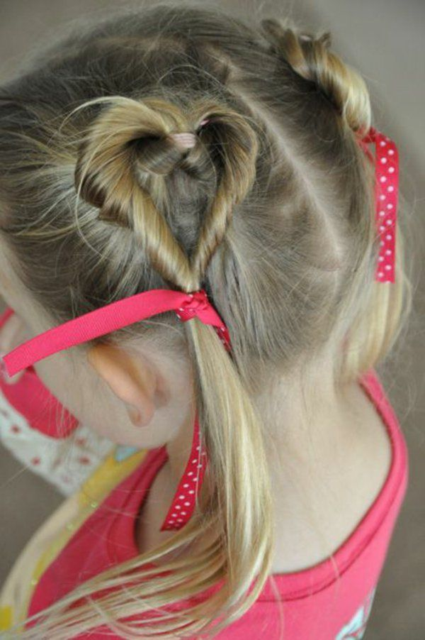 45 Wunderschone Frisuren Fur Kleine Madchen Hair Styles Valentines Hairstyles Cool Hairstyles For Girls