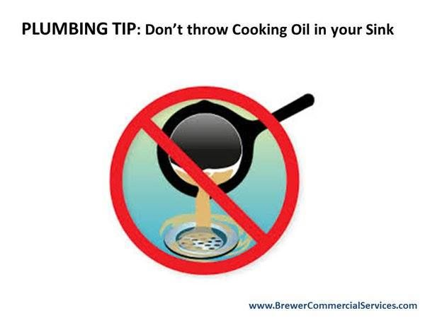 Plumbingtip Don T Dispose Cooking Oil In Your Sink Cool It Can