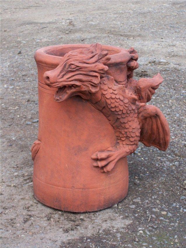 Terra Cotta Dragon Chimney Pot Fireplaces Chimneys