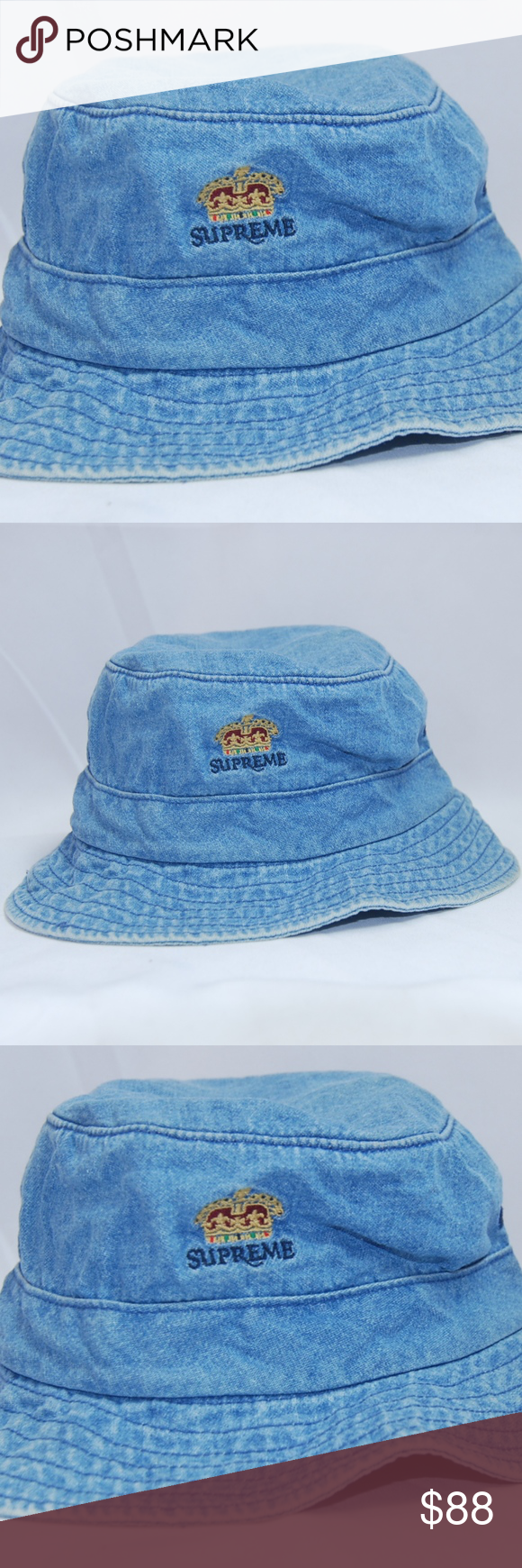 NWT Authentic Supreme Denim Bucket Hat Sz M L NWT Authentic Supreme Denim  Bucket Hat 6a4c2d622ae