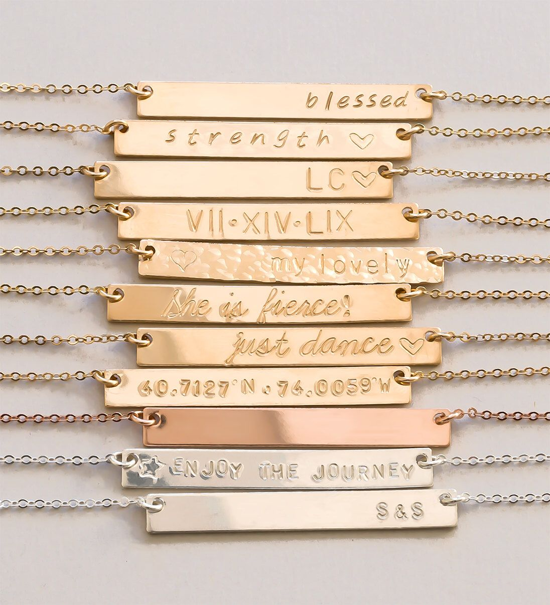 Personalized bar necklace valentines gift custom necklace gift personalized bar necklace gold bar necklace personalized jewelry name bar necklace personalize biocorpaavc