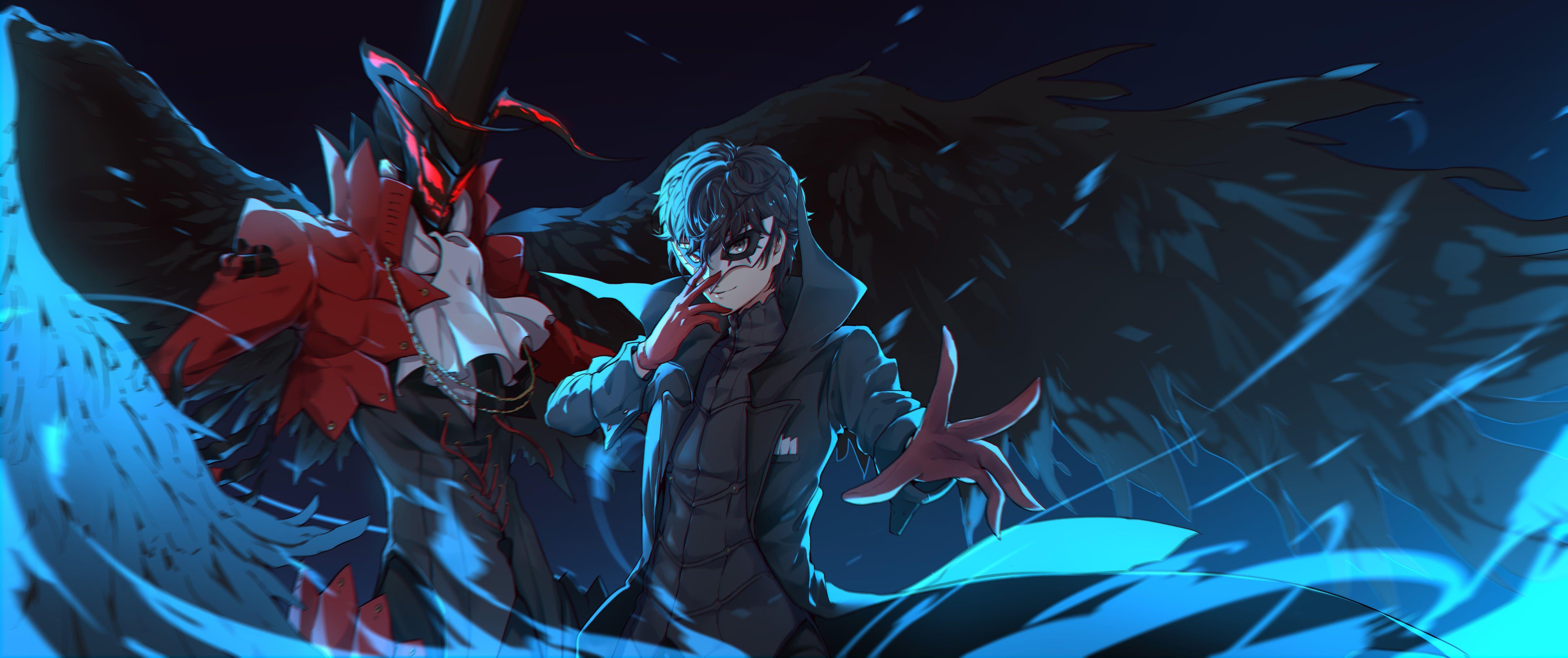 Anime Persona 5 The Animation Akira Kurusu 5k Wallpaper Hdwallpaper Desktop In 2020 Persona 5 Anime Persona 5 Persona