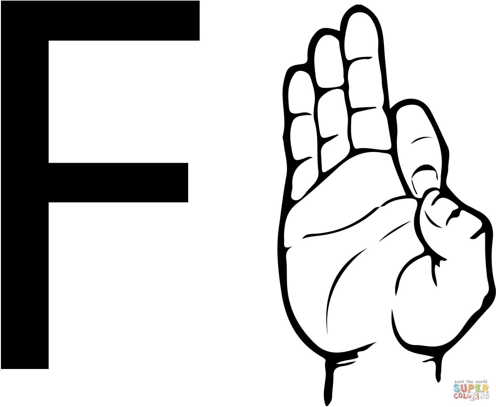 Asl Letter F Sign Language Letters Sign Language Book Asl Sign Language